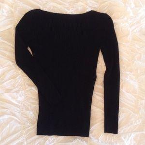 Black Stretchy Knit Maternity Sweater